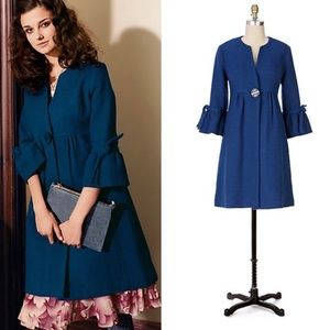Anthropologie Tabitha   Wool Blend Coat   Size 6